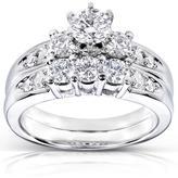 Kobelli Jewelry 1 1/5 CT TW Diamond 14K White Gold Bridal Set