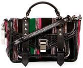 Proenza Schouler PS1 Medium Mixed-Media Satchel Bag, Black