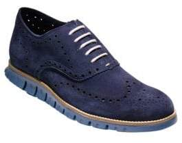 Cole Haan Perforated Suede Wingtip Oxfords