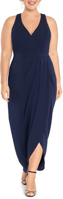 Xscape Evenings Tulip Hem Scuba Crepe Gown