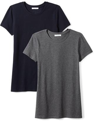 Daily Ritual Amazon Brand Women's Stretch Supima Short-Sleeve Crew Neck T-Shirt