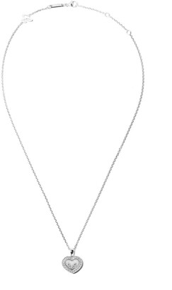 Chopard 18kt white gold Happy Diamonds Icons pendant necklace