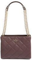 Kate Spade 'Emerson Place - Mini Convertible Phoebe' Quilted Leather Shoulder Bag - Brown
