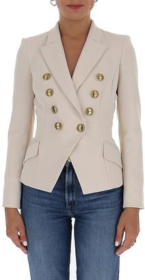 Elisabetta Franchi Double-Breasted Button Detail Blazer