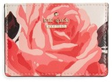 Kate Spade Women's Cameron Street Roses Card Holder - Pink