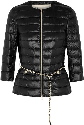 Herno Icon black belted shell jacket