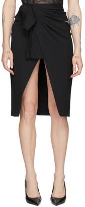 Off-White Black Logo Wrap Skirt