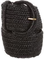 Dolce & Gabbana Wide Raffia Belt w/ Tags