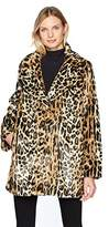 Kenneth Cole Women's Animal Faux Fur Coat