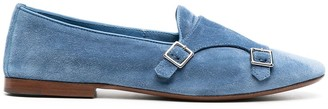 Henderson Baracco Double-Buckle Suede Loafers