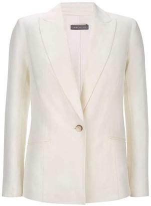 Mint Velvet Ivory Single Breasted Blazer
