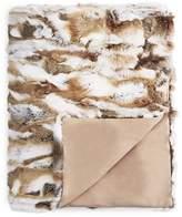 Adrienne Landau Nat Goma Rabbit Fur Throw