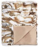 Adrienne Landau Natural Goma Rabbit Fur Throw