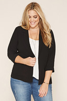 Forever 21 FOREVER 21+ Plus Size Collared Blazer