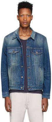 Alanui Blue Denim Sarape Jacket