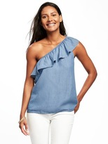 Old Navy Relaxed One-Shoulder Tencel® Blouse for Women