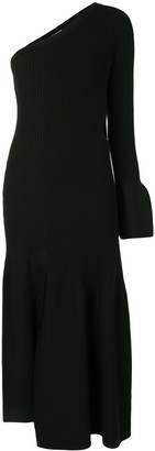3.1 Phillip Lim One Sleeved Ribbed Cutout Dress