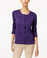 Karen Scott Cotton Pocket Cardigan, Created for Macy's