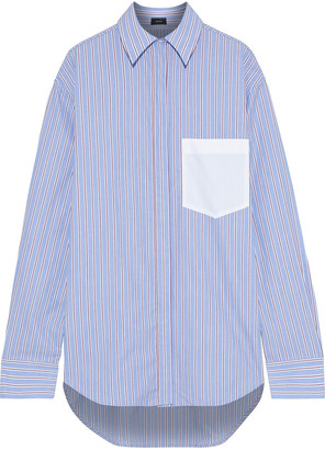 Joseph Gibson Oversized Striped Cotton-poplin Shirt
