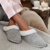 The White Company Felt Faux-Fur Slippers
