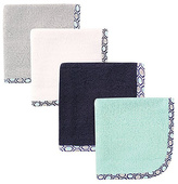 Hudson Baby Blue & Gray Honeycomb Washcloth Set