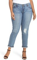 KUT from the Kloth Distressed Slim Boyfriend Jeans (Thrilling) (Plus Size)