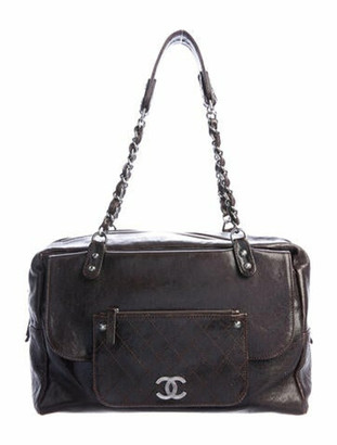Chanel Pocket In The City Accordion Tote silver