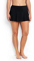 Lands' End Women's Plus Size Flounce Mini SwimMini Skirt Control-Plum Wine