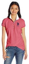 U.S. Polo Assn. Juniors Short Sleeve Geometric Print Pique Shirt