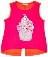 Design History Girls' Sequin Cupcake Tank