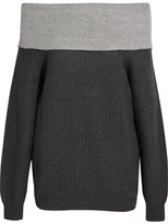 Maiyet Off-the-shoulder Cashmere-blend Sweater - Dark gray