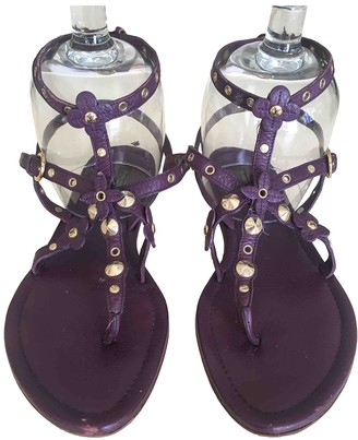 Louis Vuitton Purple Leather Sandals