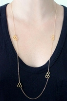 Gorjana Honeycomb Wrap Necklace in Gold