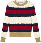 Gucci Striped wool knit top