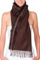 CLAIRE FLORENCE Fur Travel Mini Scarf