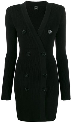 Pinko button-front knitted dress