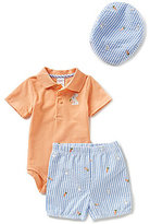 Starting Out Baby Boys Newborn-9 Months Bunny Bodysuit, Shorts & Hat Set