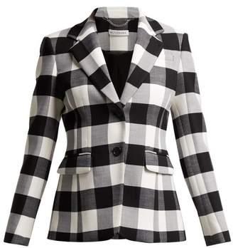 Altuzarra Fenice Wool Blend Blazer - Womens - Black White
