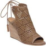 Lucky Brand Riskee Perforated Leather Wedge Shootie