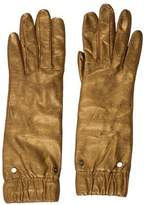 Diane von Furstenberg Metallic Leather Gloves