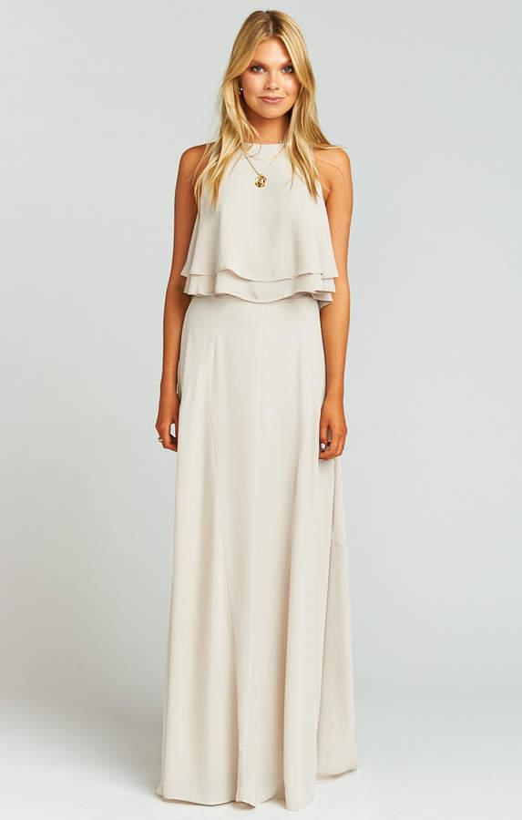 Show Me Your Mumu Princess Di Stretch Ballgown Maxi Skirt ~ Show Me the Ring Crisp