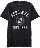 Aeropostale Mens Aero Nyc Shield Logo Graphic T Shirt