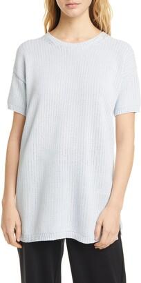 Eileen Fisher Short Sleeve Tunic Sweater