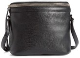 Kara Large Stowaway Leather Crossbody Bag - Black