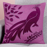 Peacock Toss Pillow, Purple