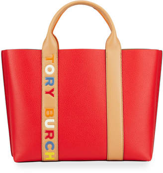 Tory Burch Perry Multi Stripe Triple Compartment Tote Bag