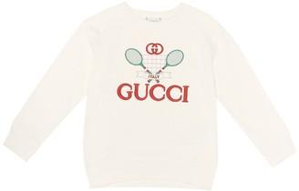 Gucci Kids Gucci Tennis cotton sweatshirt