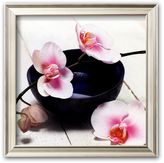 "Art.com Orchid in a Bowl"" Framed Art Print by Stephane De Bourgies"