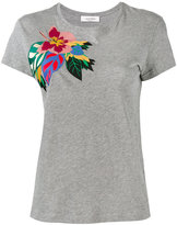 Valentino Tropical Dream appliqué T-shirt - women - Cotton - M