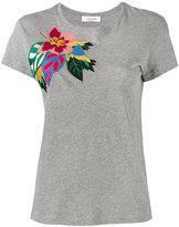 Valentino Tropical Dream appliqué T-shirt - women - Cotton - XS